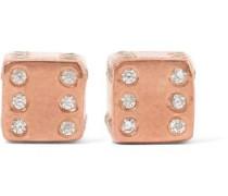 Rose gold-plated topaz earrings