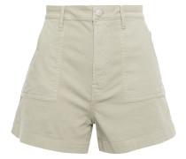 Jordyn Lace-up Cotton-blend Canvas Shorts