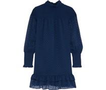 Nessy Gestuftes Minikleid aus Chiffon mit Fil Coupé und Raffung