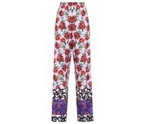 Elba Floral-print Crepe Wide-leg Pants