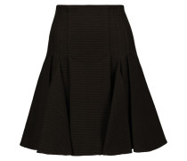 Cango Pleated Textured Wool-blend Skirt Schwarz