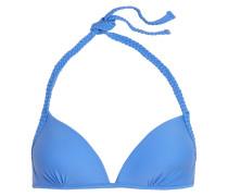 Santa Fe Braided Triangle Bikini Top Hellblau