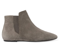 Inga Suede Ankle Boots Anthrazit