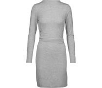 Streeter Ruched Modal-blend Mini Dress Hellgrau