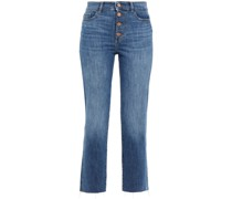 Mara Hoch Sitzende Cropped Jeans mit Geradem Bein in Distressed-optik