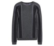 Paneled wool sweater