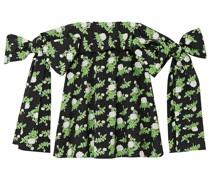 Holly Schulterfreies Minikleid aus Baumwollpopeline mit Floralem Print