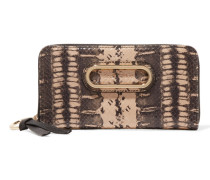 Paige Glossed-snake And Textured-leather Wallet Schlangen-Print