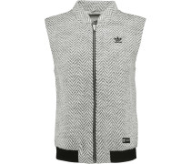 Herringbone Tweed Vest Grau