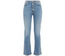 Poppy Halbhohe Kick-flare-jeans