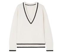 Zweifarbiger Pullover aus Einer Woll-kaschmirmischung