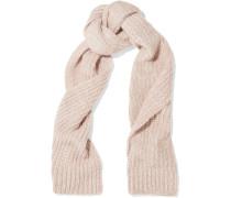 Riibbed-knit Scarf Babypink