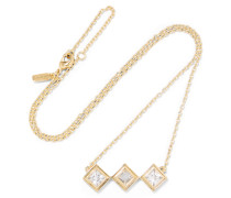 Truitt Gold-tone Crystal Necklace