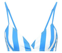 The Brigitte Striped Triangle Bikini Top