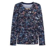 Inca mesh-paneled floral-print stretch-jersey top