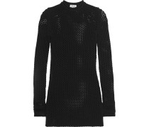 Alca Open-knit Mini Dress Schwarz
