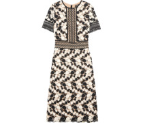 Gala Crocheted Lace Midi Dress Weiß