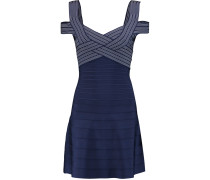 Woven Bandage Mini Dress Mitternachtsblau