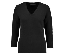 Ribbed Cashmere Sweater Schwarz