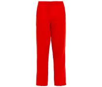 Cropped Crepe Straight-leg Pants