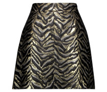 Metallic Brocade Mini Skirt Gold