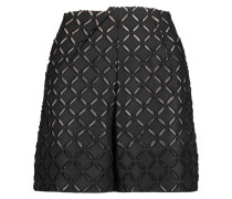 Kelston Fil Coupé Cotton And Silk-blend Shorts Schwarz
