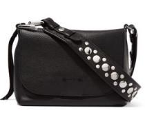 Finley studded textured-leather shoulder bag