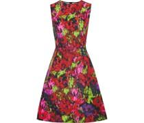Bedrucktes Kleid aus Faille aus Einer Baumwoll-seidenmischung