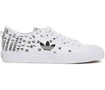 Nizza Trefoil Logo-print Canvas Sneakers