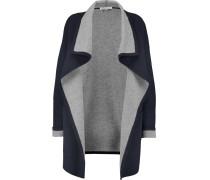 Reversible Draped Knitted Coat Mitternachtsblau
