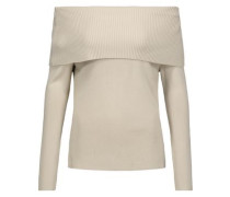 Jaca off-the-shoulder ribbed-knit sweater