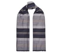 Frayed Striped Cashmere Scarf