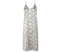 Snake-print Silk-satin Midi Dress