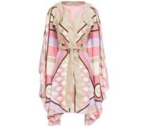 Belted Printed Silk-twill Kimono