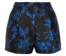 Pleated brocade shorts