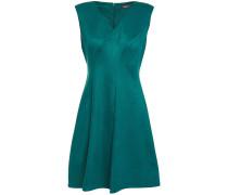 Flared Faux Stretch-suede Mini Dress