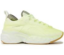 Sneakers aus Velourslederimitat mit Mesh-besatz
