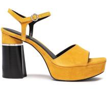 Ziggy Embellished Suede Platform Sandals