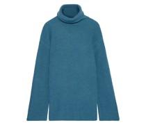 Emmanuelle Ribbed Merino Wool Turtleneck Sweater