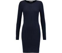 Ribbed Cashmere Mini Dress Navy
