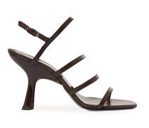 Strappy Tee Slingback-sandalen aus Leder