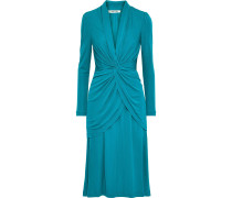 Stacia Twist-front Layered Jersey Dress