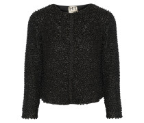 Beaded Mesh Jacket Schwarz