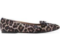 Nancy animal-print calf hair loafers