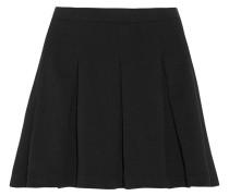 Pleated Stretch-jersey Mini Skirt Schwarz