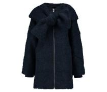 Bouclé Hooded Coat Mitternachtsblau