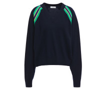 Alexandrie Striped Wool And Cashmere-blend Sweater