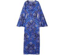 Liliana Printed Stretch-silk Satin Maxi Dress