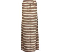 Cleo Printed Jersey Maxi Skirt Champignon