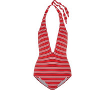 Roza Knit striped halterneck swimsuit